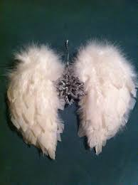 diy angel wings christmas ornament use up some of the donated