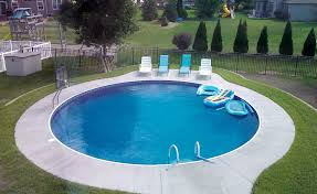 modern round inground pool designs with landscape for the home