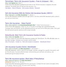 term life insurance quotes without personal information