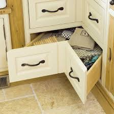 space saving ideas kitchen space saving kitchen corner drawers a set of v shaped drawers by