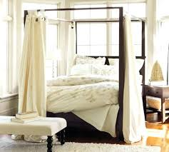 Plain White Curtains Curtains For Canopy Bed Plain White Canopy Curtain Country