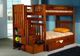 Plans For Bunk Bed With Stairs by Wooden Bunk Beds With Desk Diy Loft Bed Plans With A Desk Under