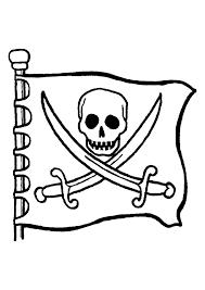coloriage d u0027un drapeau de pirate coloriages de pirates