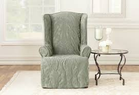 sure fit slipcovers wing chair sure fit slipcovers matelasse damask wing chair slipcover in