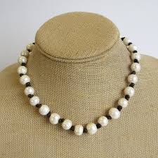 pearl necklace pictures images Knotted pearl necklace lucky buck jewelry JPG