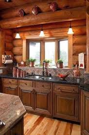 cabin kitchen ideas cozy cabin kitchen the gray cabinets against all the wood
