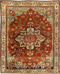 Red And Blue Persian Rug by Persian Heriz Rug Bb6354 By Doris Leslie Blau