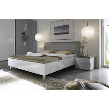chevet chambre adulte table de chevet moderne blanc et gris