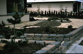 building walls retaining walls stairs and fences in the tsubo en