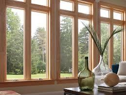 Andersen Windows With Blinds Inside Inside View Of Milgard Essence Casement Wood Windows Window