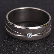 gold coloured rings images Silver ring with micro paved aaa cz high polished white gold color jpg