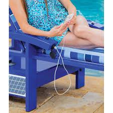 Motorized Pool Chair The Solar Powered Entertainment Lounger Hammacher Schlemmer