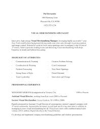 Merchandiser Resume Resume Examples Visual Merchandising Augustais