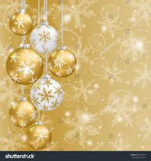 christmas card gold balls snowflakes on stock vector 239228125