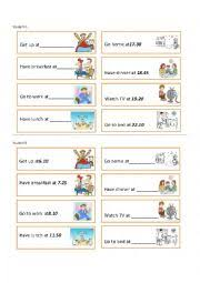 english worksheets daily routine worksheets page 42