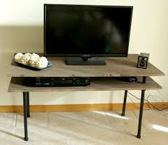 diy pipe computer desk diy tv stand a blend of industrial rustic and modern