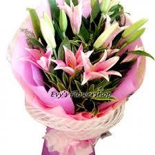 stargazer bouquet stargazer in bouquet vase basket i flower delivery metro manila