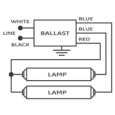 wiring pre circuit diagram output florescent ballast electrical