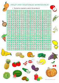 thanksgiving word search worksheets 50 free esl fruit and vegetables worksheets