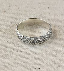 flower band sterling silver flower band jewelry rings 36ten scoutmob