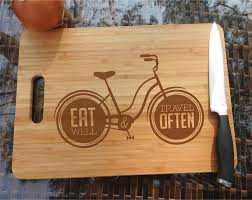 personalize cutting board ikb302 personalized cutting board wood inscription bicycle journey