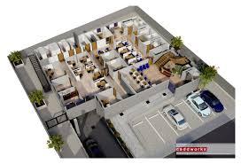 commercial exterior and rendered floor plan u2013 caddworkx 3d rendering