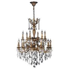 versailles chandelier worldwide lighting versailles 18 light antique bronze crystal