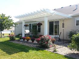Concrete Pergola Designs by Inviting Ideas For Pergola Design With Square Shape White Color