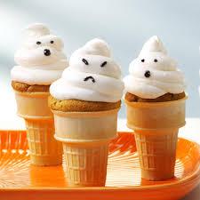 ghost cupcake cones recipe taste of home