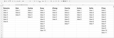 Online Spreadsheets How To Perfect And Leverage Remote Ux Workshops U2013 Ux Planet