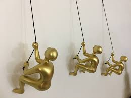 gifts for home decoration 3 piece big climbing sculpture wall art gift for home decor