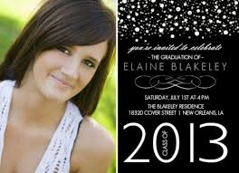 themes stylish high school graduation announcements wording from