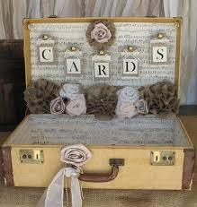 vintage wedding decor vintage suitcase wedding card