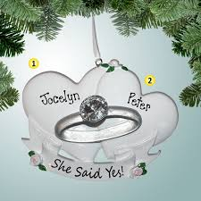 1st ornaments she said yes engagement ring