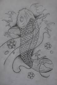 koi fish sketch by ifinch on deviantart