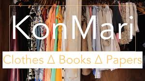 konmari method clothes books papers before after youtube
