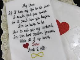 Wedding Gift Husband Groom Handkerchief Embroidered Wedding Gift Husband And Wife Gift