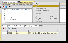 Ora 00942 Table Or View Does Not Exist How To View Errors For Views In Oracle Sql Developer Thatjeffsmith