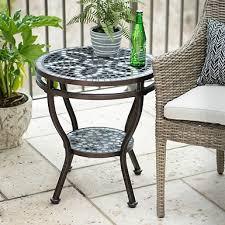 Kirklands Patio Furniture Turquoise Retro Outdoor Side Table Kirklands