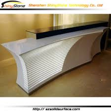 Convex Curved Front Desk Solid Surface Custom Reception Desk