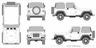 jeep wrangler 1995 blueprint download free blueprint for 3d modeling