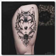 wolftattoo finger tattoos detailed thigh tattoos tattoos
