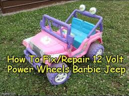 barbie jeep power wheels 90s how to repair fix power wheels barbie jeep 12 volt electric