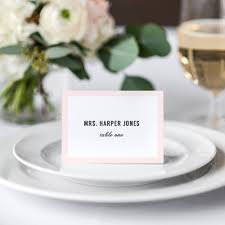 Table Name Cards by Modern Wedding Table Name Place Cards With Or Without Border Any
