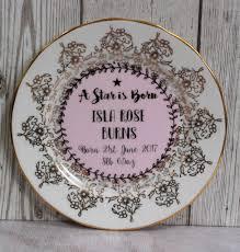 keepsake plate new baby girl personalised vintage china keepsake plate by ollie