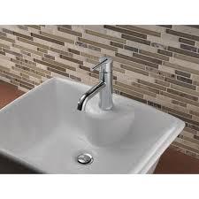 delta trinsic bathroom single hole single handle bathroom faucet