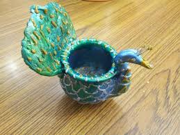 peacock decor for home crafts for home decor shilpkar decoration on pot peacock design