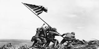 Iwo Jima Flag Raising Staged Photo Collection Iwo Jima Flag Raising