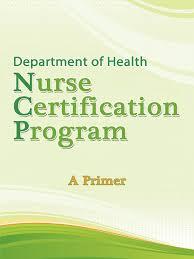 Self Certification Notification Letter Doh Nurse Certification Program Primer Professional