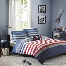 Queen Bedroom Comforter Sets Amazon Com Mizone Kyle 4 Piece Comforter Set Red Blue Full